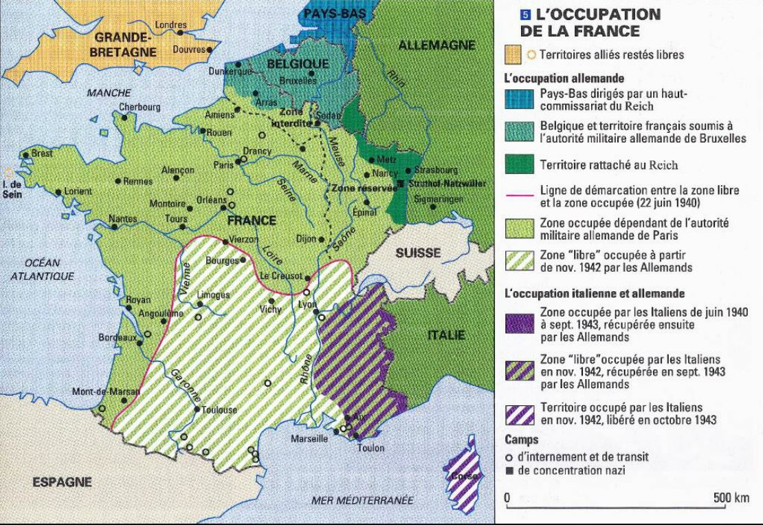 occupation de la france